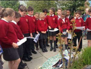 St Mary's RC Primary Year 6 children participate in Lampedusa Cross Pilgrimage