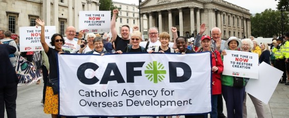 CAFOD Campaigners taking action against Climate Change
